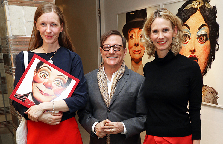 Matthew Rolston after signing his book Talking Heads, flanked by Berlin artist and illustrator Tina Berning (L) and CWC Associate Gallery Director Steffi Schulze (R)