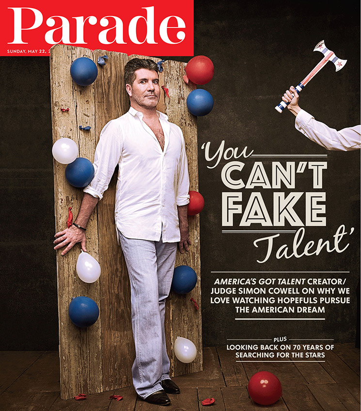 Parade used one of Art's publicity images of Simon Cowell on its May 22, 2016, cover.