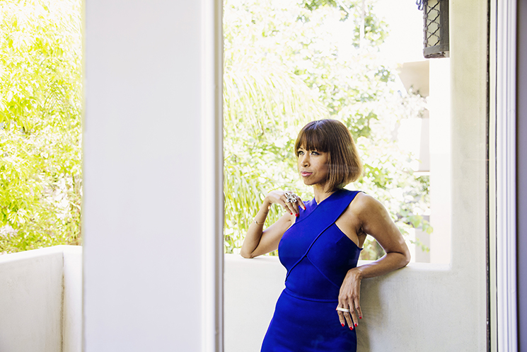 STUDIO CITY, CA - May 26:  Stacey Dash, an American actress, known for starring in the 1995 feature film Clueless, at her home in Studio City, a suburb of Los Angeles in California's San Fernando Valley on Thursday, May 26, 2016. (Photo by Brinson Banks)