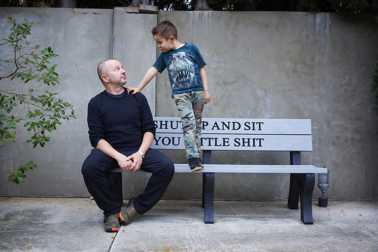 Artist Danny First and his son shot at his home in Los Angeles.