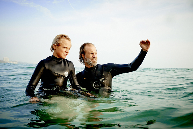 Author Norman Ollestad and his son Noah shot in Malibu, California.