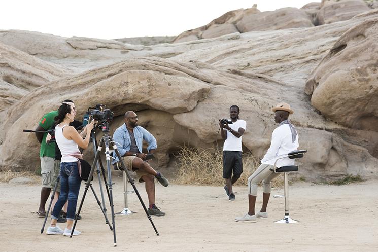 Kwaku Alston_Djimon Hounsou BTS