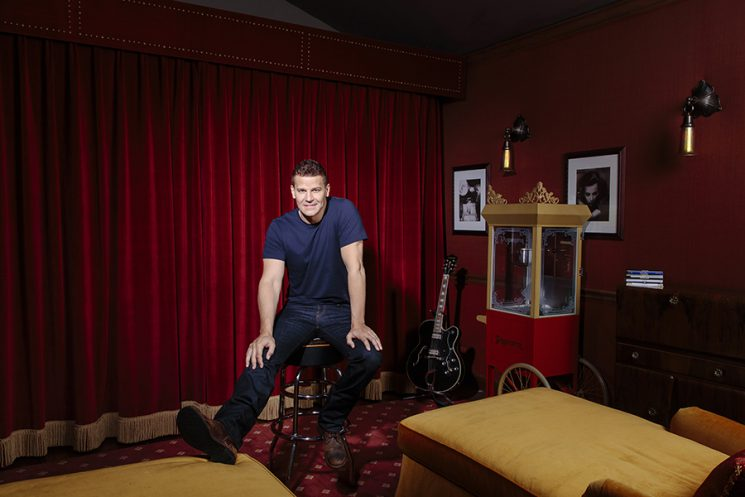 David Boreanaz in his home in Hidden Hills, California, June 14, 2016. Photographed by Brinson+Banks