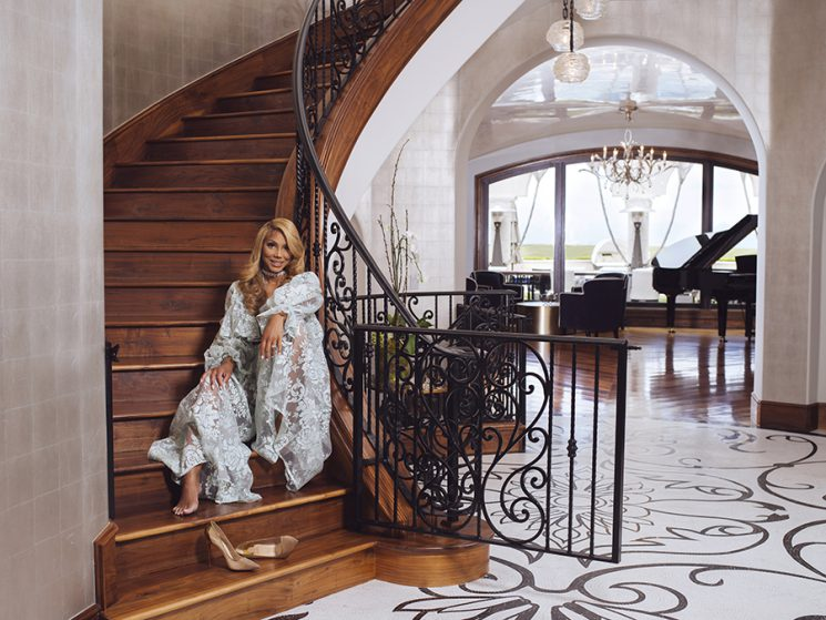 Tamar Braxton photographed in her home in Calabasas, California June 15, 2016. Photo by Brinson+Banks