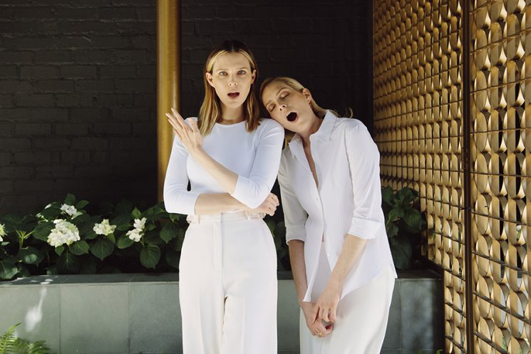 """Sisters Sara and Erin Foster star in VH1's """"Barely Famous."""" They pose for a portrait at Eric Buterbaugh Florals in Los Angeles, California, May 13, 2016."""