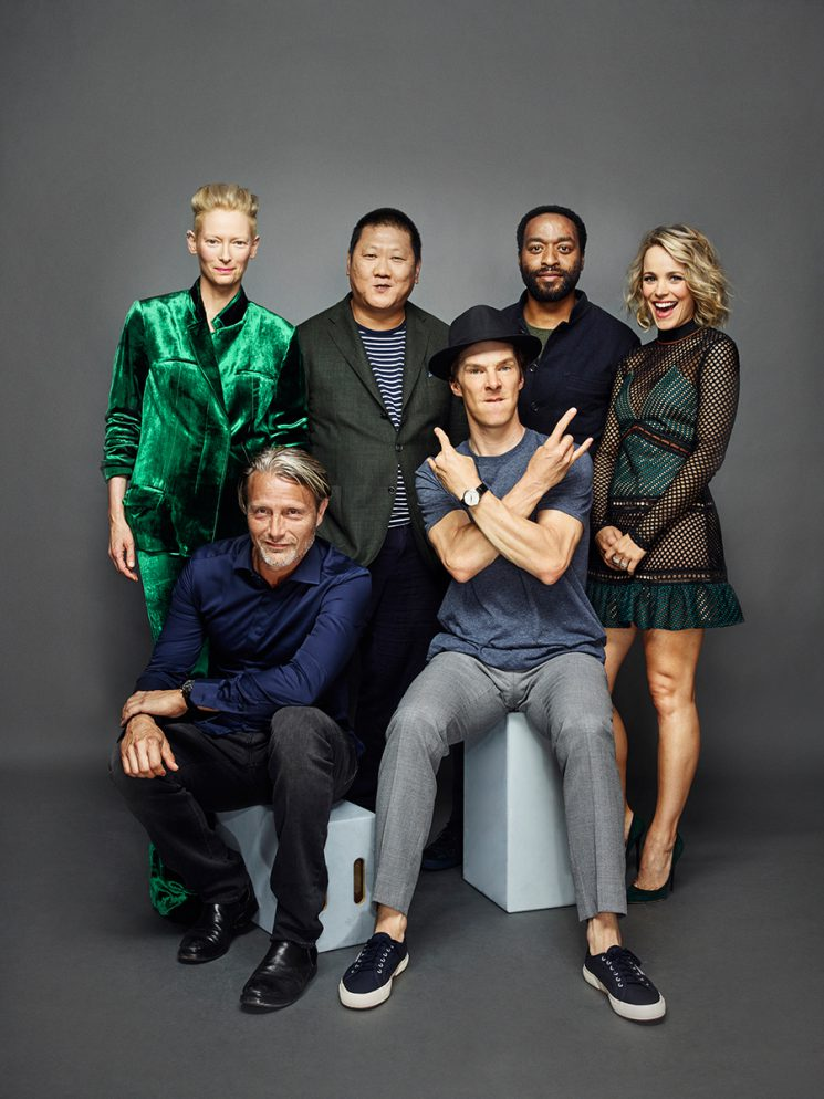 Dr. Strange Clockwise from Top Left: Tilda Swinton, Benedict Wong, Rachel McAdams, Chiwetel Ejiofor, Benedict Cumberbatch and Mads Mikkelsen Comic-Con 2016 Day 3 - July 23, 2016 – San Diego, CA Photograph by Matthias Clamer