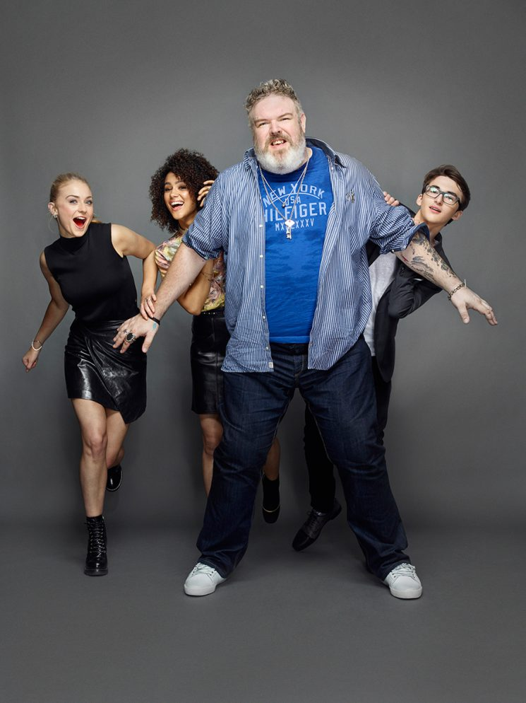 Game of Thrones Sophie Turner, Nathalie Emmanuel, Kristian Nairn, and Isaac Hempstead Wright Comic-Con 2016 Day 2 - July 22, 2016 – San Diego, CA Photograph by Matthias Clamer