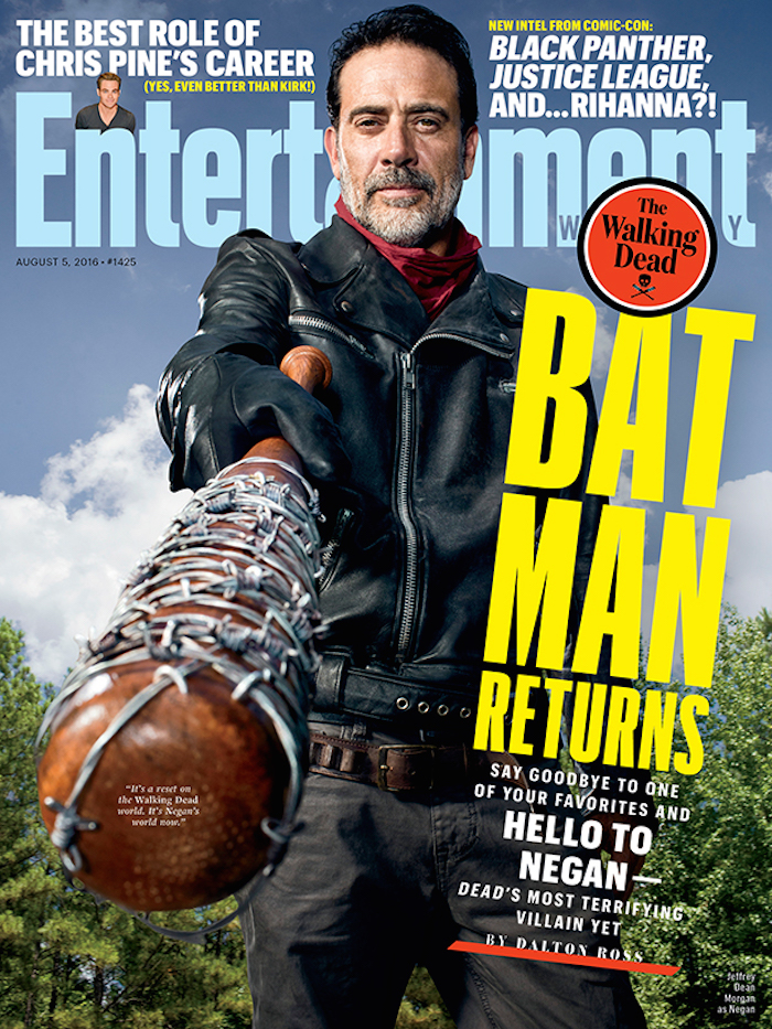 Jeffrey Dean Morgan as Negan. Photo by Matthias Clamer for Entertainment Weekly.