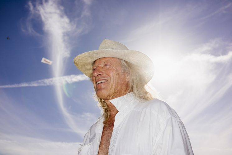 INDIO, CA - Oct. 9: Ben Ailes, 69, who first saw The Who in 1973 in Vienna, Austria, geared up to see the band again on the third night of Desert Trip Music Festival, which features bands Bob Dylan, The Rolling Stones, Paul McCartney, Neil Young, The Who and Roger Waters, in Indio, California October 9, 2016. Photo by Brinson+Banks Model Release: YES