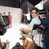 "Lauren Greenfield in Los Angeles, on the set of ""Beauty CULTure."""