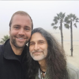 Tobias Hutzler in Los Angeles with Bill Stockland.