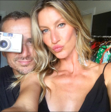 Nino Muñoz with Gisele Bundchen in Rio.