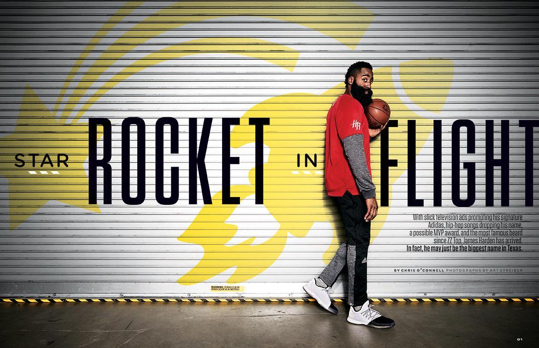 Art Streiber photographs NBA star James Harden of the Houston ...