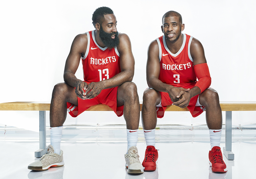 4353f0be815 Guzman photograph James Harden and Chris Paul of the Houston ...