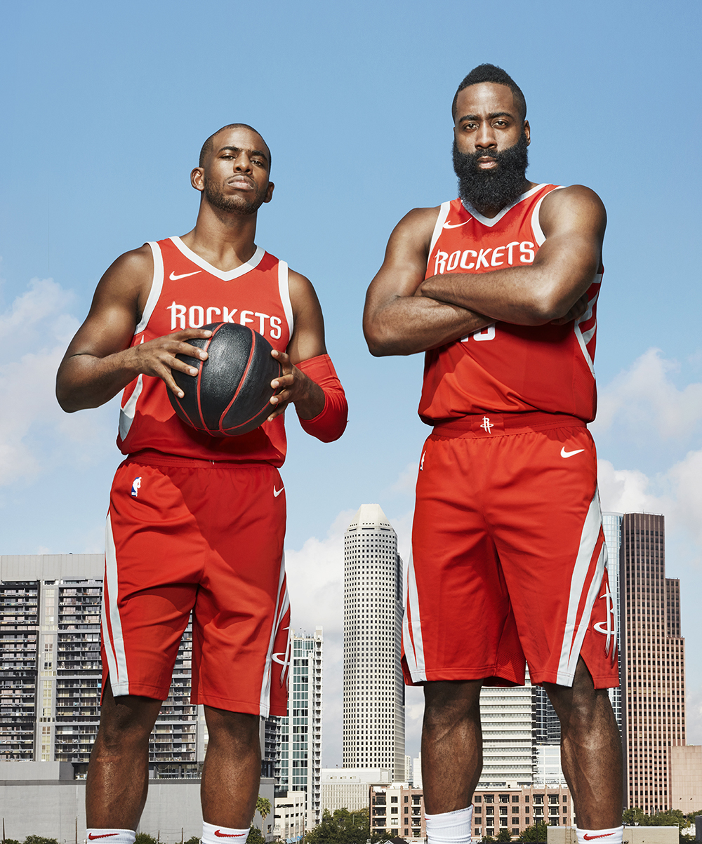 71c5868e41ca Guzman photograph James Harden and Chris Paul of the Houston ...