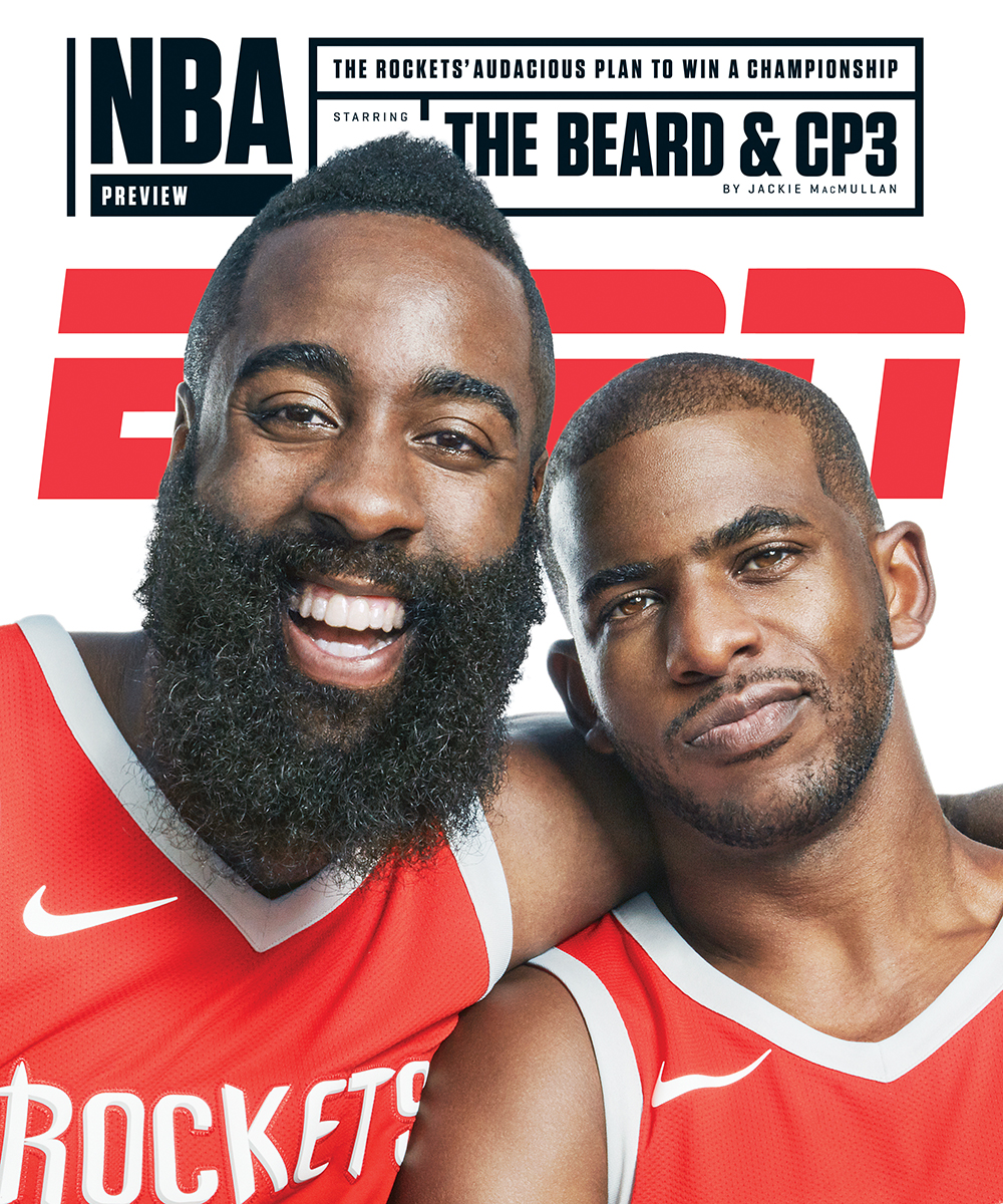 fe5d3a3ee54 Guzman photograph James Harden and Chris Paul of the Houston Rockets for  the cover of ESPN The Magazine s NBA Preview « Stockland Martel Blog